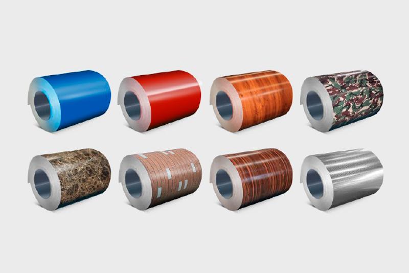 彩涂、印花、覆膜、压花钢板/铝板